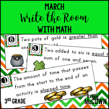 March WRITE THE ROOM with Math - 3rd Grade