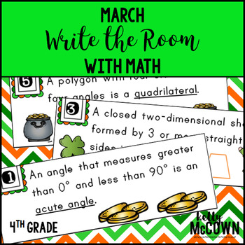 March WRITE THE ROOM with Math - 4th Grade
