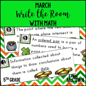 March WRITE THE ROOM with Math - 5th Grade
