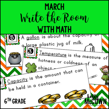 March WRITE THE ROOM with Math - 6th Grade