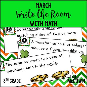 March WRITE THE ROOM Math 8th Grade