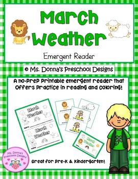 March Weather Emergent Reader