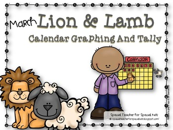 March Weather Graphing and Tally Lion and Lamb --- Freebie