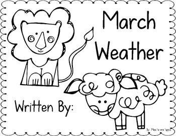 March Weather Writing FREEBIE