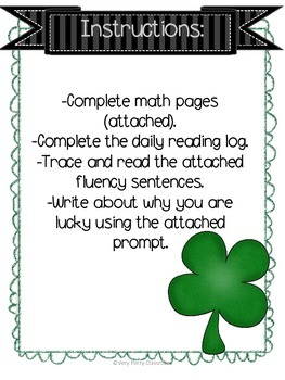 March Week 1 Homework Packet