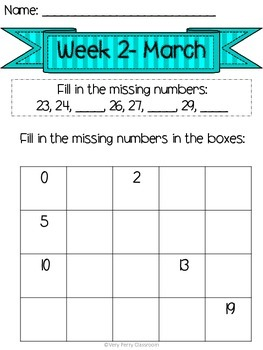 March Week 2 Homework Packet
