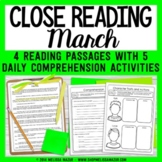 Close Reading Comprehension Passages - March - Distance Le