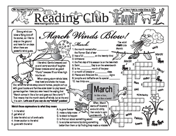 March Winds Blow Two-Page Activity Set