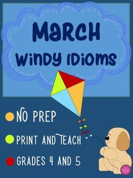 March Windy Idioms Figurative Language