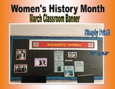 March Women's History Month Bulletin Board Banner
