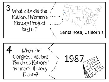 March- Women's History Month INFORMATIONAL TEXT game