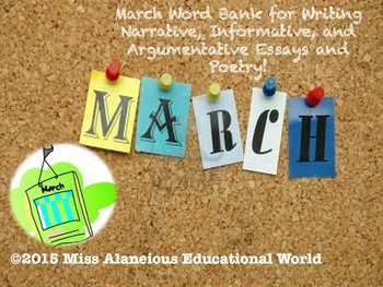 March Word Bank for Writing and Poetry!