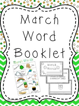March Word Booklet and Coordinating Poster