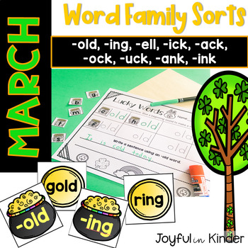 March Word Family Sorts