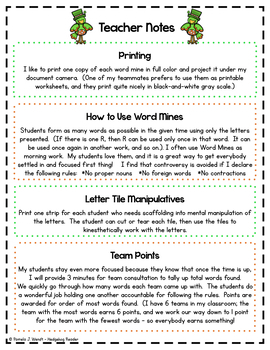 March Spelling Puzzles incl  St  Patrick's Day Word Mines