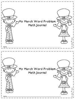 March Word Problem Journals {2nd Grade Common Core Aligned}