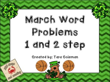 March Word Problems (1 & 2 step)