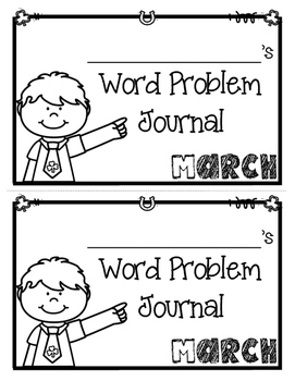 March Word Problems Journal Booklet