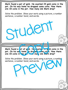March Word Problems & Math Interactive Notebook Activities Pack!