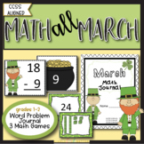 March Word Problems and Math Games {St. Patrick's Day Theme}