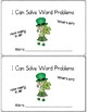 March Word Problems for Second Grade Common Core Aligned