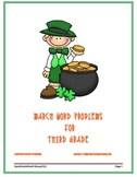 March Word Problems for Third Grade