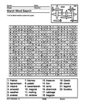 March Word Search Printable