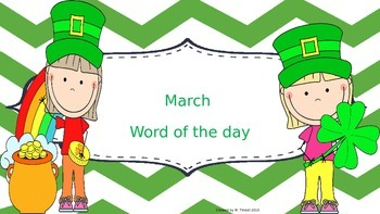 March Word of the Day (NO PREP)