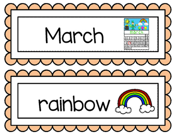 March Word Wall