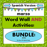 March Word Wall Cards AND Activities! Spanish version