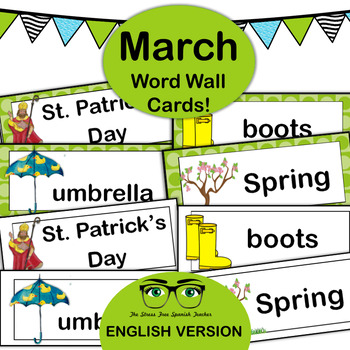 March Word Wall Cards! English version