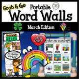 March Word Wall: Weather, St. Patrick's Day, Body, Habitats, Spring Word Walls