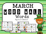 March Thematic Word Wall Words {68 Words for St. Patrick's Day, Weather,& More!}