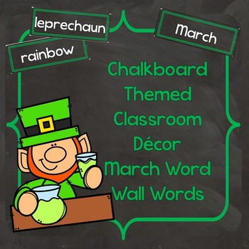 March Word Wall Words (Chalkboard Labels Decor Add On)