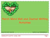 March Word Wall and Journal Writing Activities