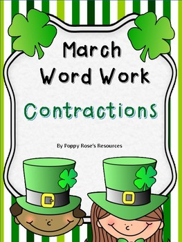 March Word Work - Contractions - St. Patrick's Day