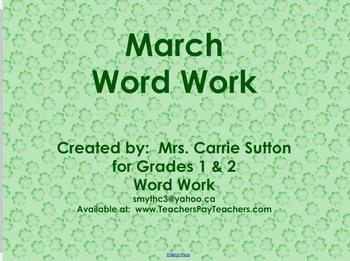 March Word Work: SMARTNotebook