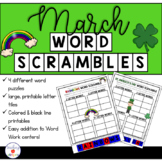 March Word Work: Word Scramble Puzzles
