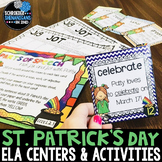 March Word Work and ELA activities - abc order, spelling, task cards, writing