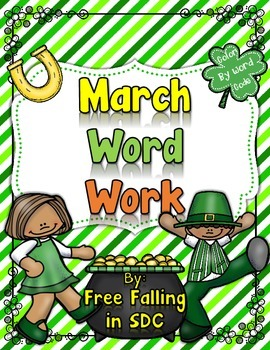 March Word Work (color by code pictures)