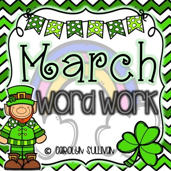 March Word Work for Kindergarten