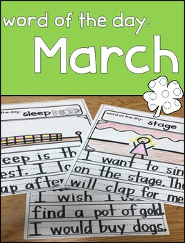 March Word of the Day Writing