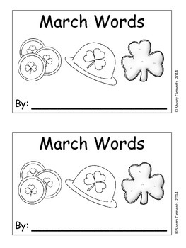 March Words Book