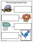 March Words Find-and-Label Literacy Station