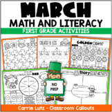 March Worksheets - No Prep Mini Unit St. Patrick's Day and More