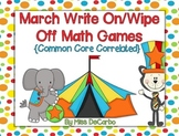 March Write On/Wipe Off Math Centers and Games! {Common Co