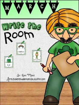 March Write the Room Activities for Kindergarten