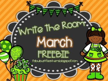 March Write the Room {FREEBIE}