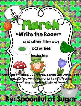"""March """"Write the Room"""" and other Literacy Activities"""