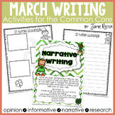 March Writing Activities Aligned to Common Core Standards
